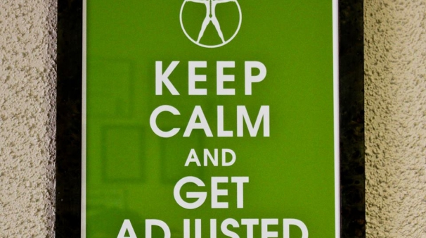 stay calm and get adjusted